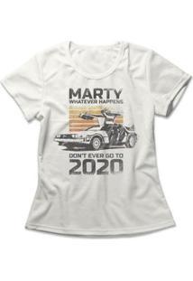 Camiseta Don'T Go To 2020 Feminina - Feminino-Off White