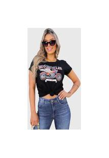 Camiseta Motorcycle Preta