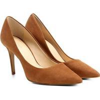 68d97c61c2 Scarpin Couro Shoestock Salto Alto Nobuck