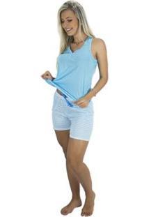 Pijama Mvb Modas Feminino - Feminino-Azul