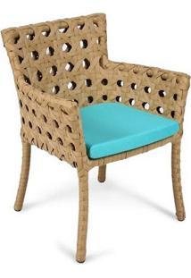 Cadeira Roseta Para Área Externa Fibra Sintética Estrutura Alumínio Eco Friendly Design Scaburi
