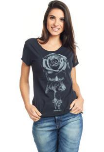 Camiseta Bossa Brasil Rosa/Caveira Preta