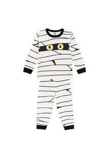 Pijama Em Malha Com Estampa Que Brilha No Escuro Brandili Bege