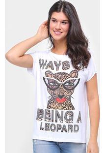 Camiseta Triton Estampada Feminina - Feminino-Branco