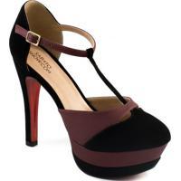 a6ac9c645203 Sapato Show. Scarpin Aberto Tiras Numeração Especial ...