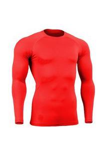 Camisa Bella Fiore Modas Térmica Poliamida Uv Segunda Pele Vermelho