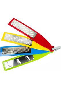 Raladores Inox Color 4 Peças - 29354