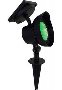 Luminária Solar Spot Superled Luz Verde - 15755 - Ecoforce - Ecoforce