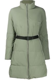 Emporio Armani Belted Puffer Jacket - Verde