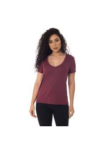 T-Shirts Daniela Cristina Gola V Profundo 10269 26 Roxo