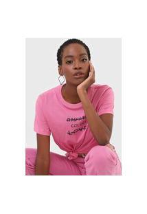Camiseta Colcci Radiate Love Rosa