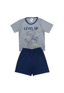 Pijama Masculino Infantil Level Up