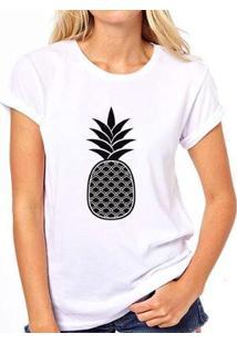 Camiseta Coolest Abacaxi Feminina - Feminino-Branco