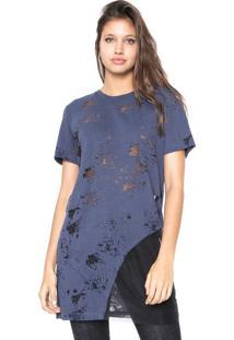 Camiseta Osmoze Devorê Azul-Marinho