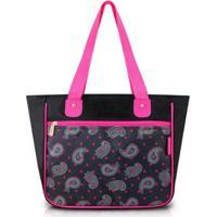 b259a4c62 Bolsa Shopper Jacki Design Nylon - Feminino-Preto+Rosa