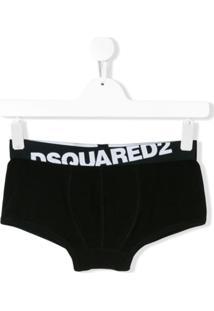 Dsquared2 Kids Cueca Com Logo - Preto