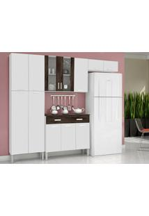 Cozinha 12 Portas Alfa Top Branco White/Petróleo - Lcmóveis