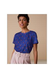 Amaro Feminino Camiseta Estampada Special, Fun Funghi