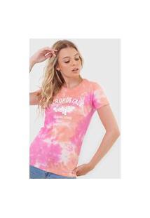 Camiseta Aeropostale Tie Dye Laranja/Rosa