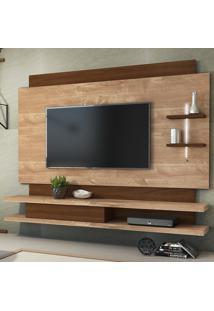 """Painel Para Tv Até 65"""" Belano 100% Mdf 13330 Rústico York/Castanho - Dj Móveis"""