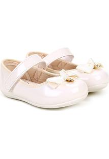 Sapato Infantil Klin Cravinho Princess Menina - Feminino-Off White