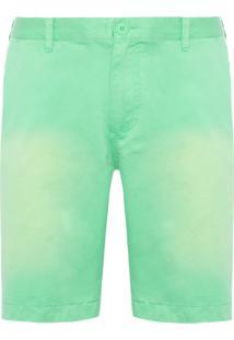 Bermuda Masculina Sarja Tinta- Verde