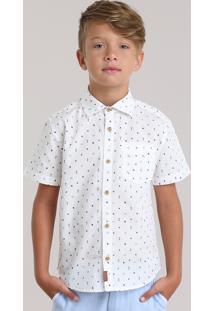 Camisa Estampada De Coqueiros Off White