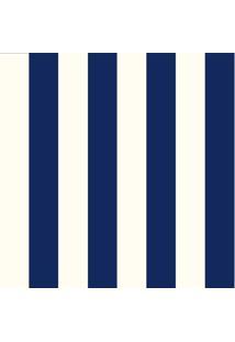 Papel De Parede Adesivo Listrado Azul E Creme (0,58M X 2,50M)