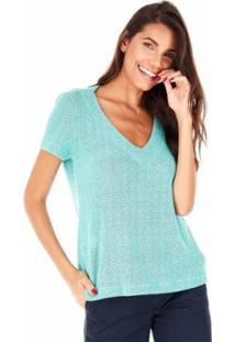Camiseta Sidewalk Lucia Pistache Feminina - Feminino-Verde