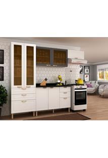 Cozinha Compacta Nevada I 7 Pt 6 Gv Branca E Grafite