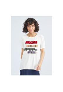 T-Shirt Alongada Manga Curta Lança Perfume Camiseta Branco