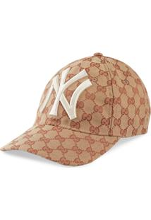 Gucci Boné Com Patch 'Baseball Hat With Ny Yankees™' - Marrom