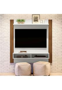 Painel Para Tv Até 42 Polegadas Capri Off White E Nogueira
