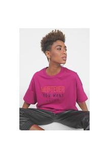 Camiseta Colcci Oversized Pink