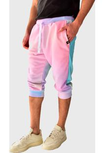 Bermuda Moletom Saruel Skinny Brohood Tie Dye Claro - Amarelo/Azul/Branco/Laranja/Rosa/Roxo - Masculino - Algodã£O - Dafiti