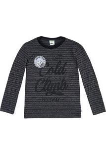 Camiseta Infantil Menino Em Algodão Com Manga Longa E Aplicação Puc       9a80baff8d41e