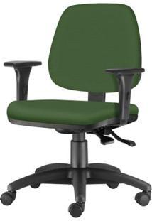 Cadeira Job Com Bracos Assento Crepe Verde Base Nylon Arcada - 54613 Sun House