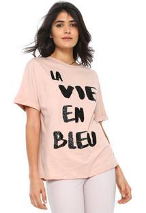 Camiseta Lez A Lez La Vie En Bleu Rosa
