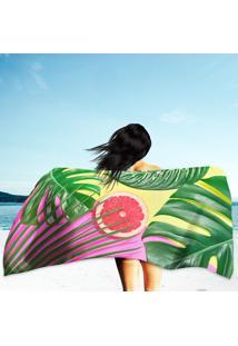 Toalha De Praia / Banho Tropical Colorful Summer