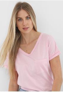 Camiseta Gap Bolso Rosa - Rosa - Feminino - Algodã£O - Dafiti