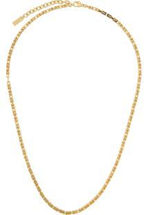 Saint Laurent Snake Chain Necklace - Dourado