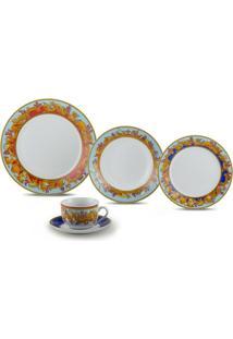 Jogo Jantar De Porcelana 20 Peças Baeza - Unissex-Colorido