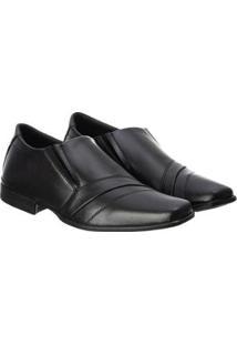 Sapato Social Masculino Confortável Leve Clássico Macio - Masculino-Preto