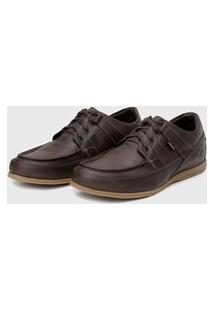 Sapato Em Couro Hayabusa Enter 10 Nescau Solado Ambar