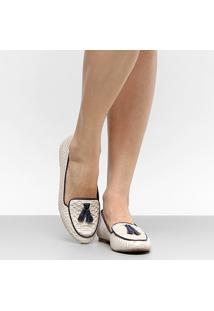 Sapatilha Couro Shoestock Cobra Barbicacho Feminina - Feminino