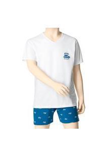 Pijama Infantil Menino Curto Malwee 1000088353 Branco