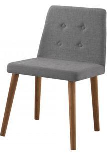 Cadeira Flan Cinza Base Castanho - 50723 - Sun House