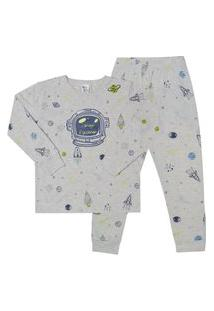 Pijama Meia Malha - 46572-1126 - (1 A 3 Anos) Pijama Rotativo Mescla Banana - Primeiros Passos Menino Meia Malha Ref:46572-1126-1