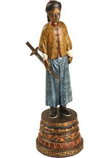 Escultura Decorativa De Resina Dinastia Qing Vii