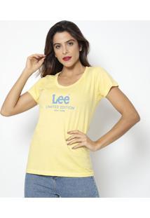 "Camiseta ""Limited Edition""- Amarela & Azul- Leelee"